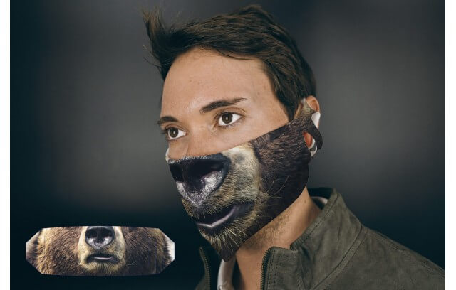 Bärenmaske aus Stoff
