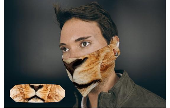 Löwenmaske aus Stoff