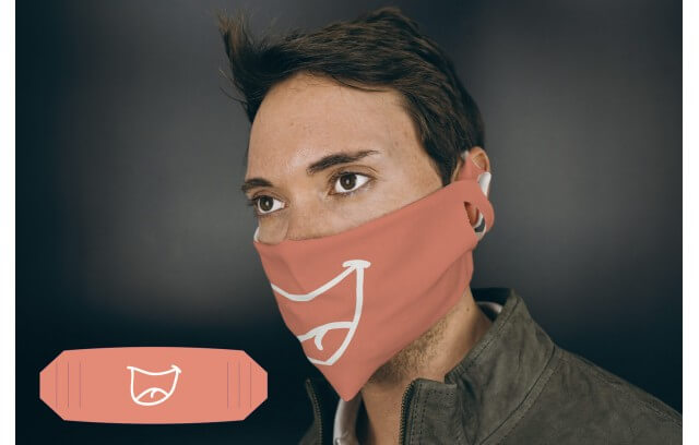 """Stoffmaske """"Lächeln"""""""