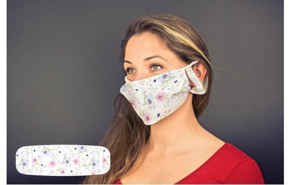 """Mund-Nasen-Maske """"Blumen"""""""