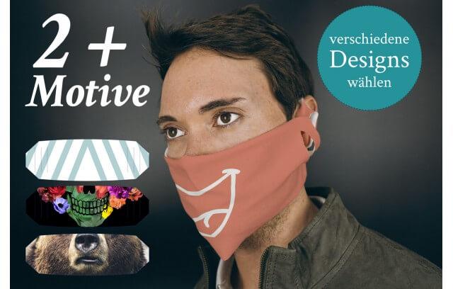 Mehrere fertige Stoffmasken kombinieren