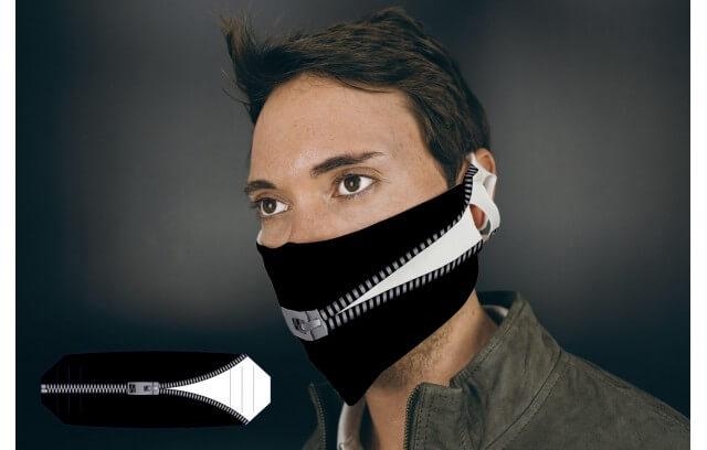 """Mund-Nasen-Maske """"Reißverschluss"""""""