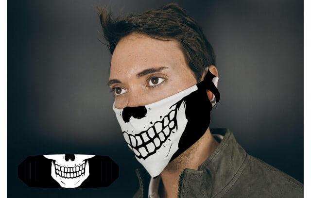 Totenkopfmaske aus Stoff