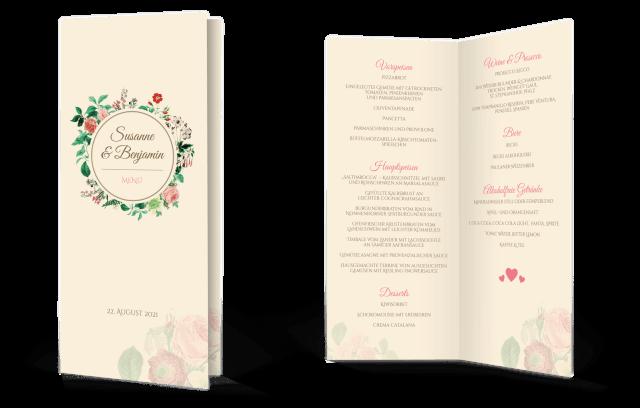 Wedding-Timeline Klapp-Menükarte