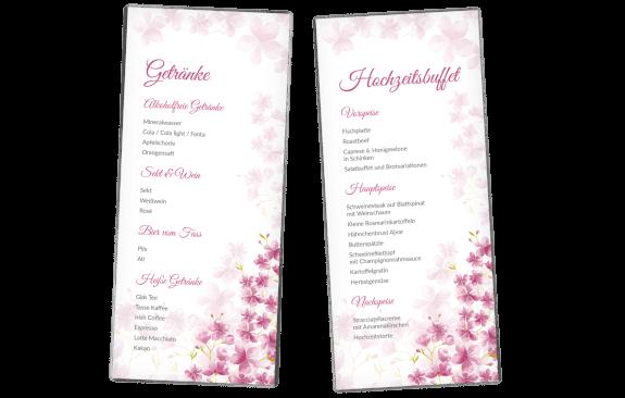 Menükarte Kirschblüten