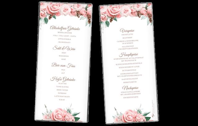 Menükarte – Lovely Pastel Flowers