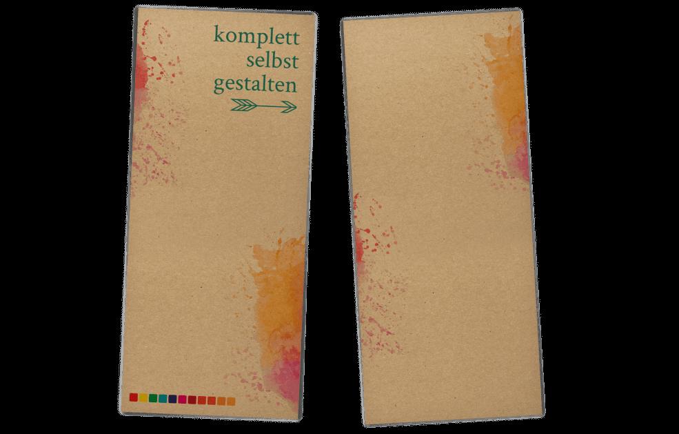 Kraftpapier Menükarten selbst gestalten