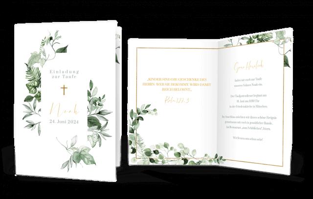 Botanical Taufkarte