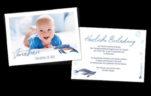 Taufkarte Blauwal