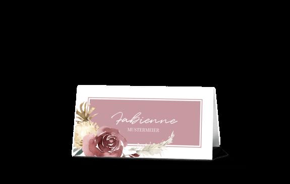Tischkarten Floral Bouquet