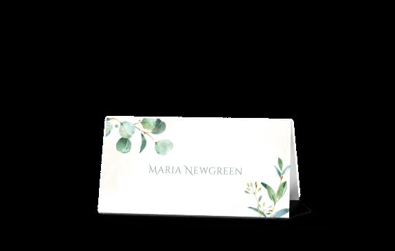 Tischkarten Eukalyptus - Greenery