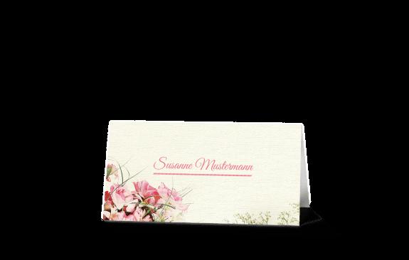 Vintageblumen Tischkarte