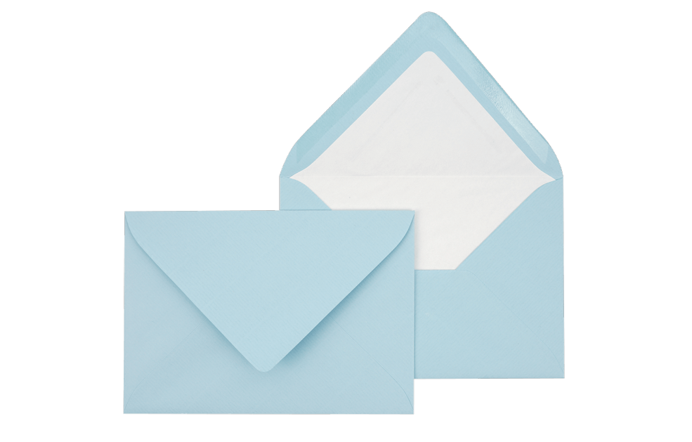 Briefumschlag Hellblau C6 - für Einladungskarten