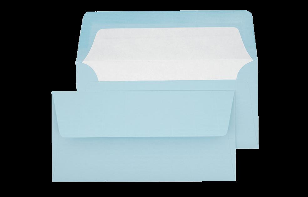 Briefumschlag Hellblau DIN lang - für Tickets