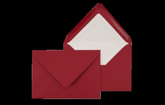 Briefumschlag Bordeauxrot C6 - für Einladungskarten