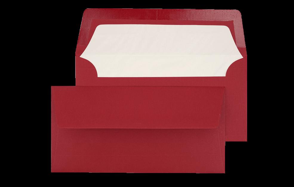 Briefumschlag Bordeauxrot DIN lang - für Tickets
