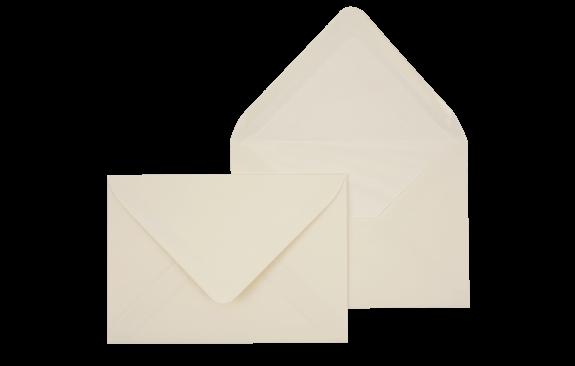 Briefumschlag Creme C6 - für Einladungskarten