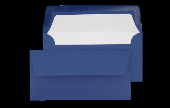 Briefumschlag Königsblau DIN lang - für Tickets