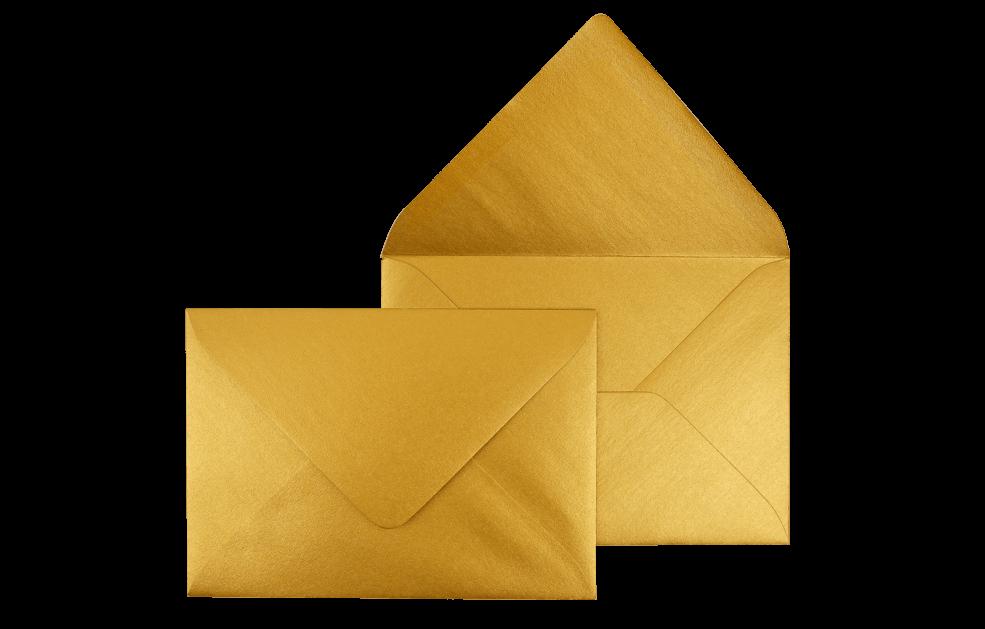 Briefumschlag Gold C6 - für Einladungskarten
