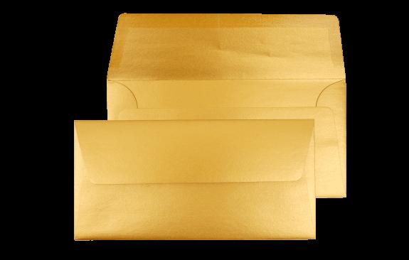 Briefumschlag Gold DIN lang - für Tickets