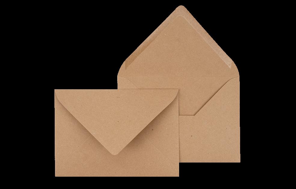 Briefumschlag Kraftpappe C6 - für Einladungskarten