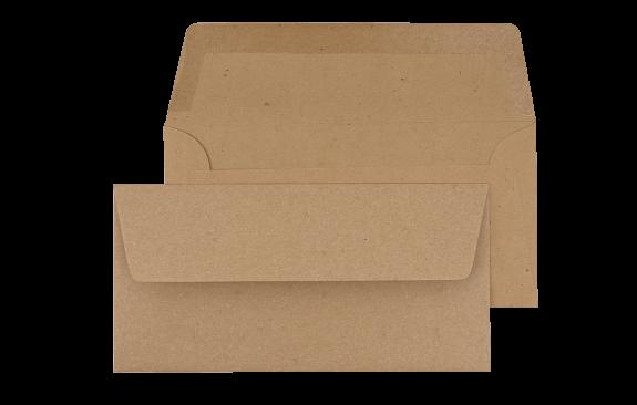 Briefumschlag Kraftpapier DIN lang - für Tickets