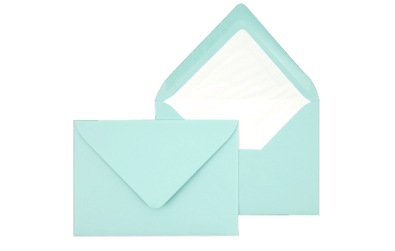 Briefumschlag Mintgrün C6 - für Einladungskarten