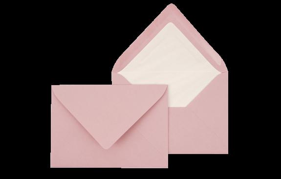 Briefumschlag Rosa C6 - für Einladungskarten