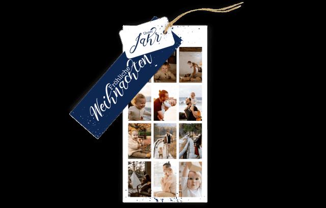 3-Fach-Weihnachtskarte - Unser Jahr