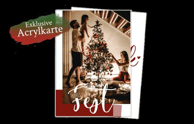 Acrylglas Weihnachtskarte | Danke