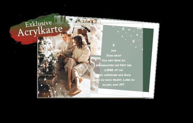 Acrylglas Weihnachtskarte | Tannenbaum