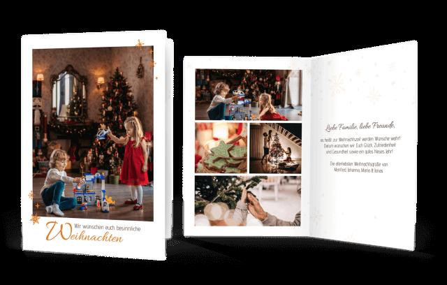 Weihnachtskarte mit Foto