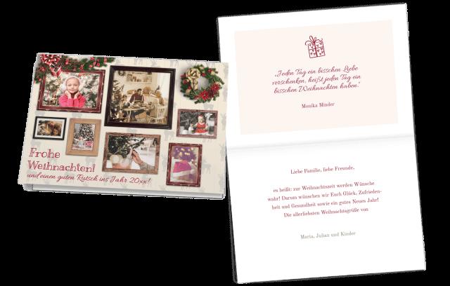 Weihnachtskarte Bilderrahmen