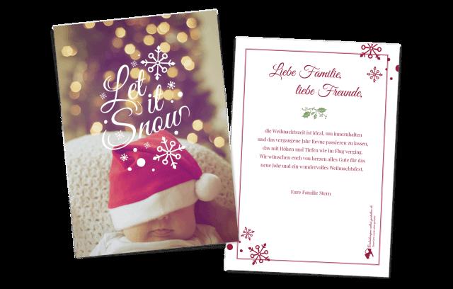 """""""Let it Snow"""" Weihnachtskarte"""