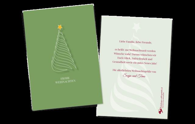 Grußkarte zu Weihnachten - Minimal