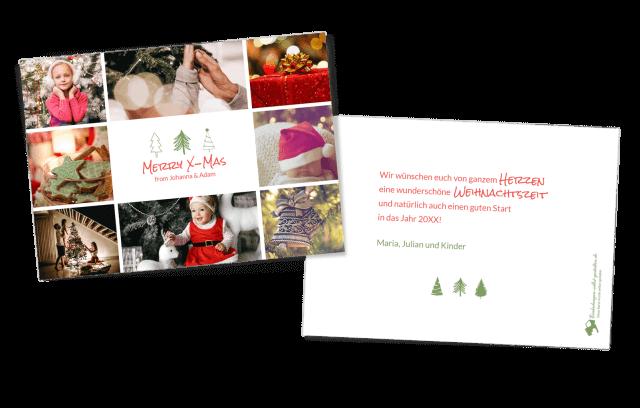 """Weihnachtskarte """"Tannenbäume"""""""