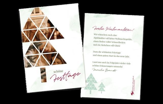 Bilderbaum Weihnachtsgrusskarte